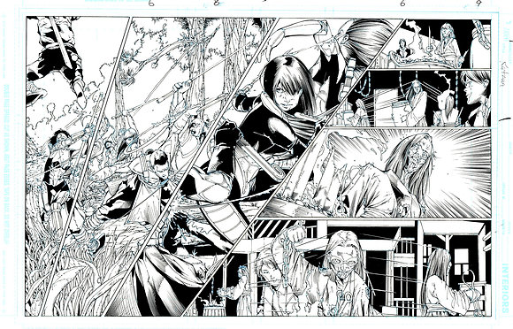 Katana #6/Pages 8 and 9     SOLD