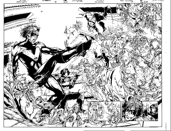 Outsiders #48/Pages 2&3  Dbl Page Spread