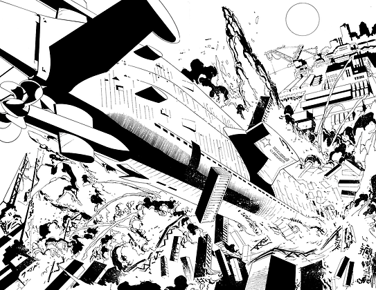Deathstroke #5/Pages 18&19 Dbl Page Spread