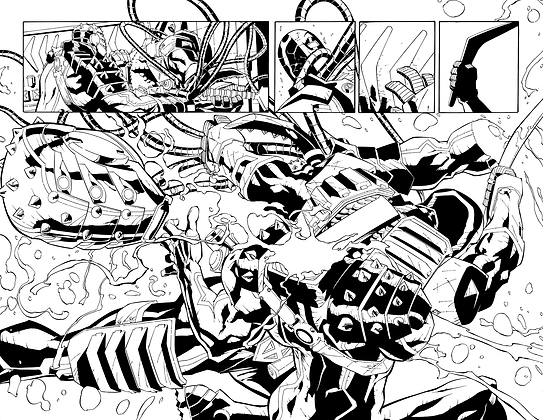 Deathstroke #3/Pages 16&17     SOLD