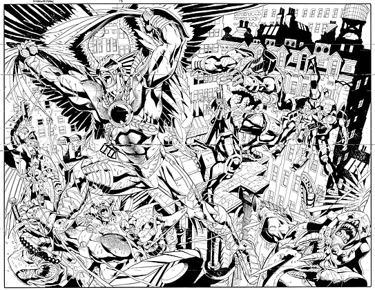 Savage Hawkman #15/Pages 6&7 Dbl Page Spread