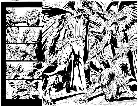 Savage Hawkman #16/Pages 6&7 Dbl Page Spread