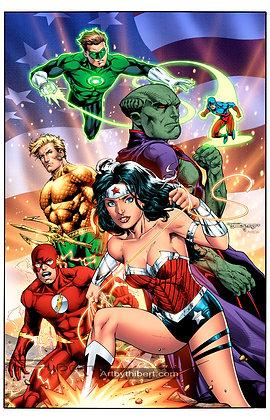 Original JLA team (New 52 ver.)