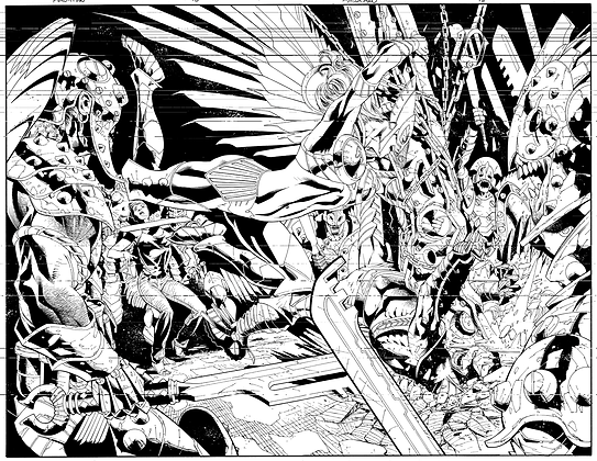 Savage Hawkman #15/Pages 14&15 Dbl Page Spread