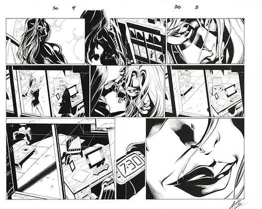 Ultimate Spiderman #50/Pages 4&5  Dbl Page Spread