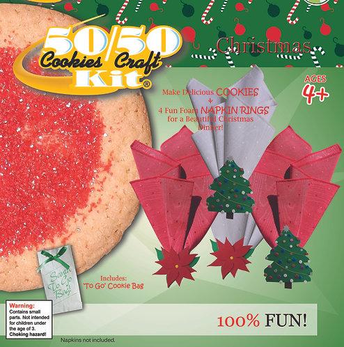 Poinsetta (2) & Christmas Tree (2) Napkin Rings