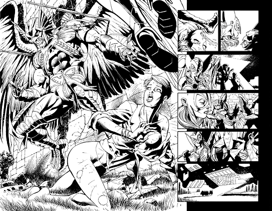 Savage Hawkman #13/Pages 6&7 Dbl Page Spread