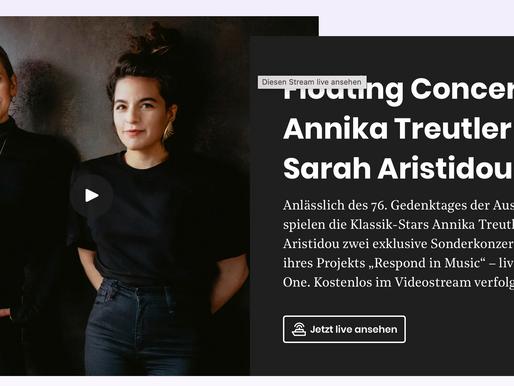 Heute um 18:30: Floating Concert mit Annika Treutler und Sarah Aristidou