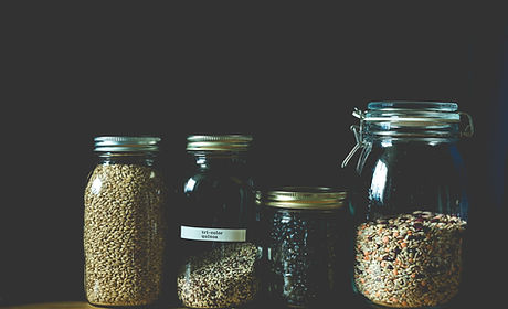 Grains in Mason Jars