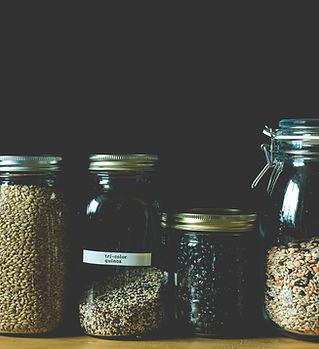Grains in Mason Jars Zero Waste