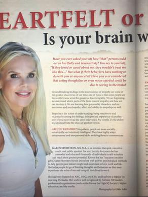 Discover Magazines   Heartfelt or Heartless?Is your brain wired for empathy?