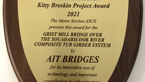 AIT Bridges Wins the ASCE Maine Section Kitty Breskin Project of the Year Award