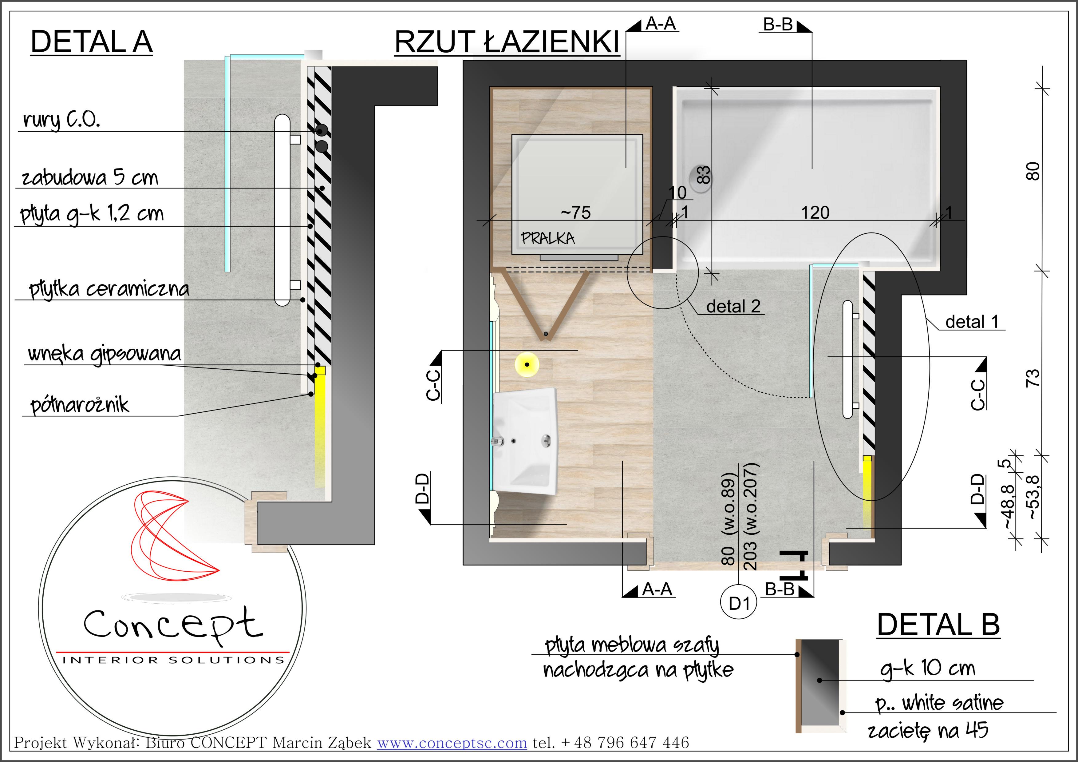 Projekt łazienka JR