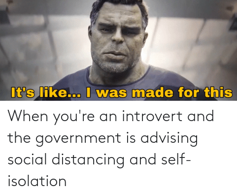 social distancing and introvert meme