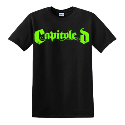 Capitole D OG Green Font T-shirt