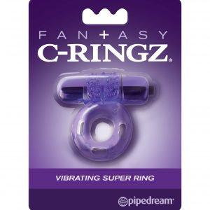 FANTASY C-RINGZ VIBRATING SUPER RING – PURPLE