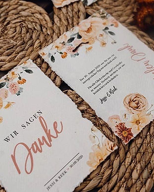 Liebe im Quadrat Dankeskarte Hochzeit