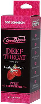 GOOD HEAD DEEP THROAT SPRAY - SWEET STRAWBERRY