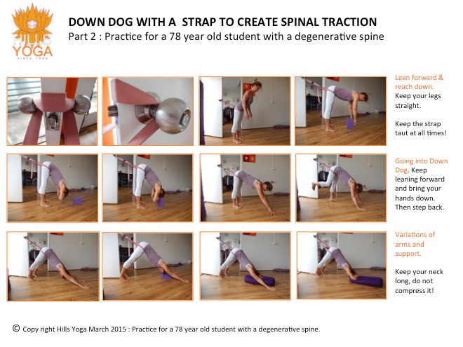 Supported dog pose - Hills Yoga
