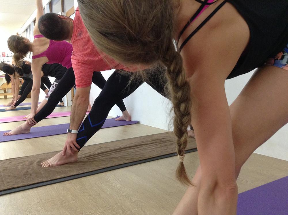 Hills Yoga student in Trikosanan