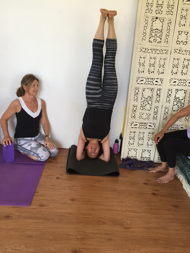 Hills Yoga Retreat Headstand practice.JP