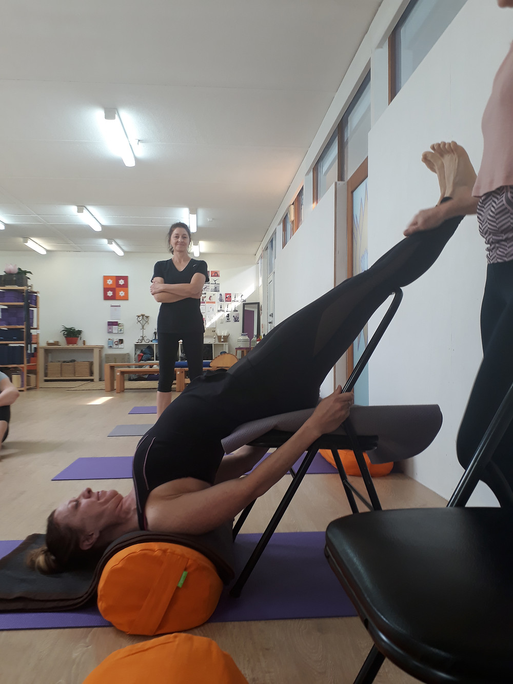 Restorative Shoulderstand - Hills Yoga