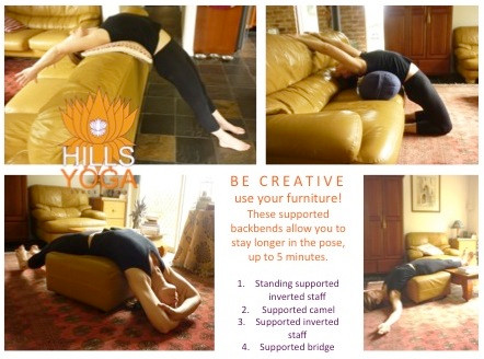 supported backbends - Hills yoga