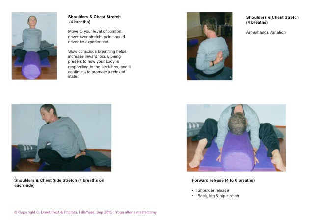 Breast cancer yoga practice P2 - Hills Yoga