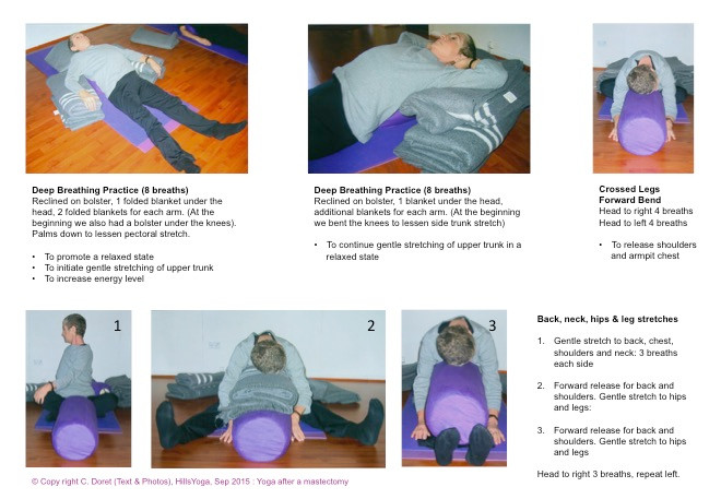 Breast cancer yoga practice P1 - Hills Yoga