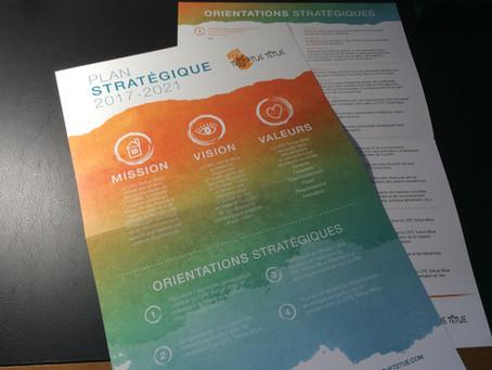 Focus client - L'affiche visuelle du plan stratégique du CPE Tortue têtue (UQAM)