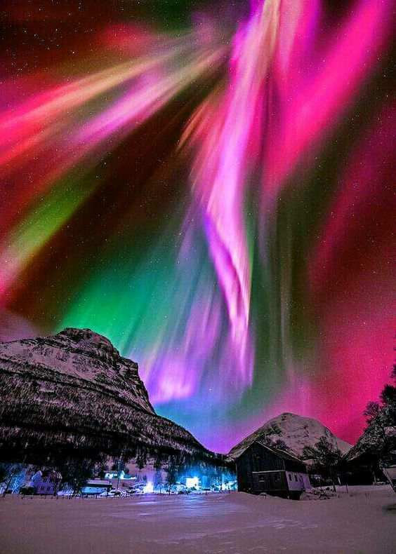 Northern Lights rainbow