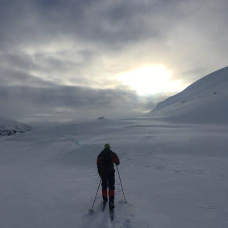 Enkelt vinter-turmål   Sandvatn, Hunnedalen, Rogaland
