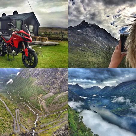 Våt roadtrip på to hjul   Sør-Norge