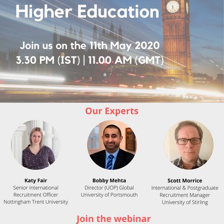 Webinar on UK Higher Education