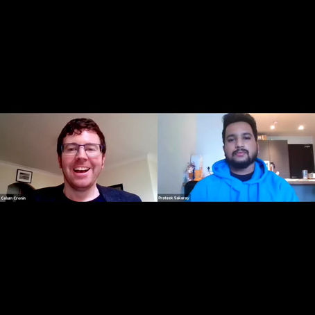 In conversation with Colum Cronin - Prateek Sakarey
