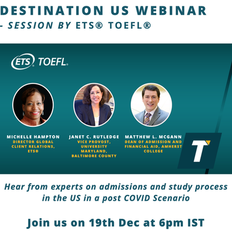 Destination US Webinar - Session by ETS TOEFL