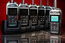 Hytera handheld digital portable radios available for rent.
