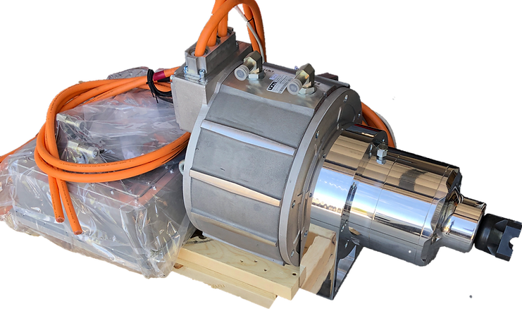 UQM DanFoss Motor Fitted with Torque Trends EV Gearbox.png