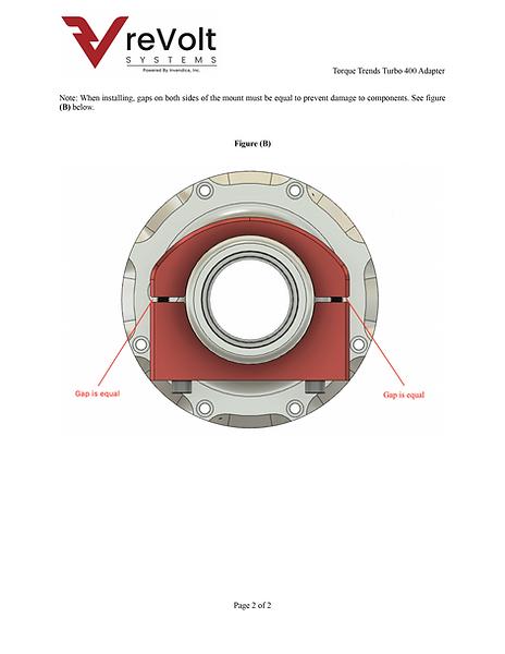 reVolt Systems Turbo 400Adapter for Torque Trends TorqueBox Fig B