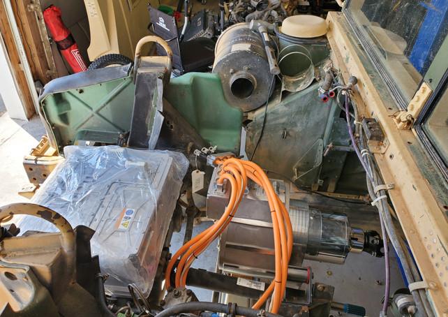 EV Power Package Under the Humvee Hood