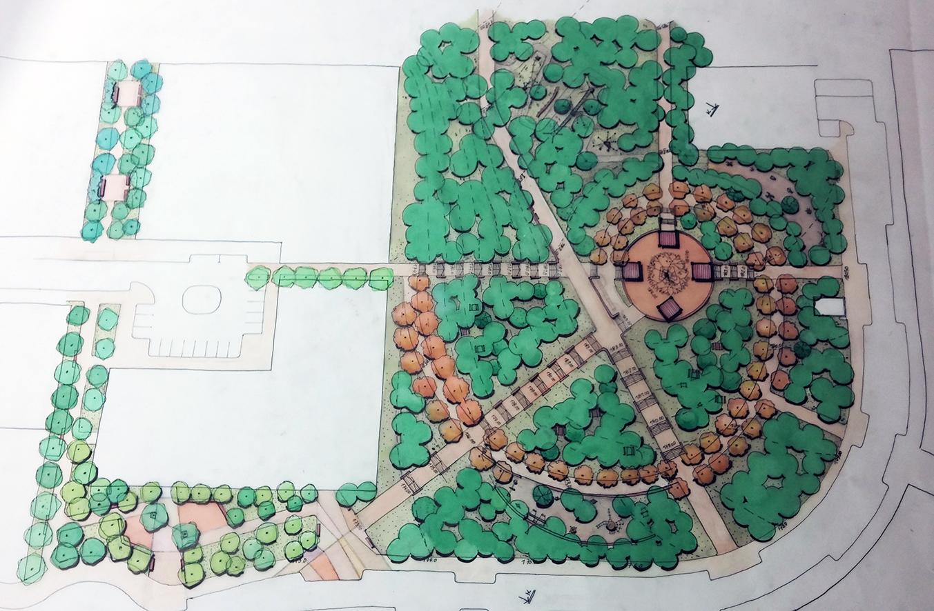גן הגבעה - סקיצה