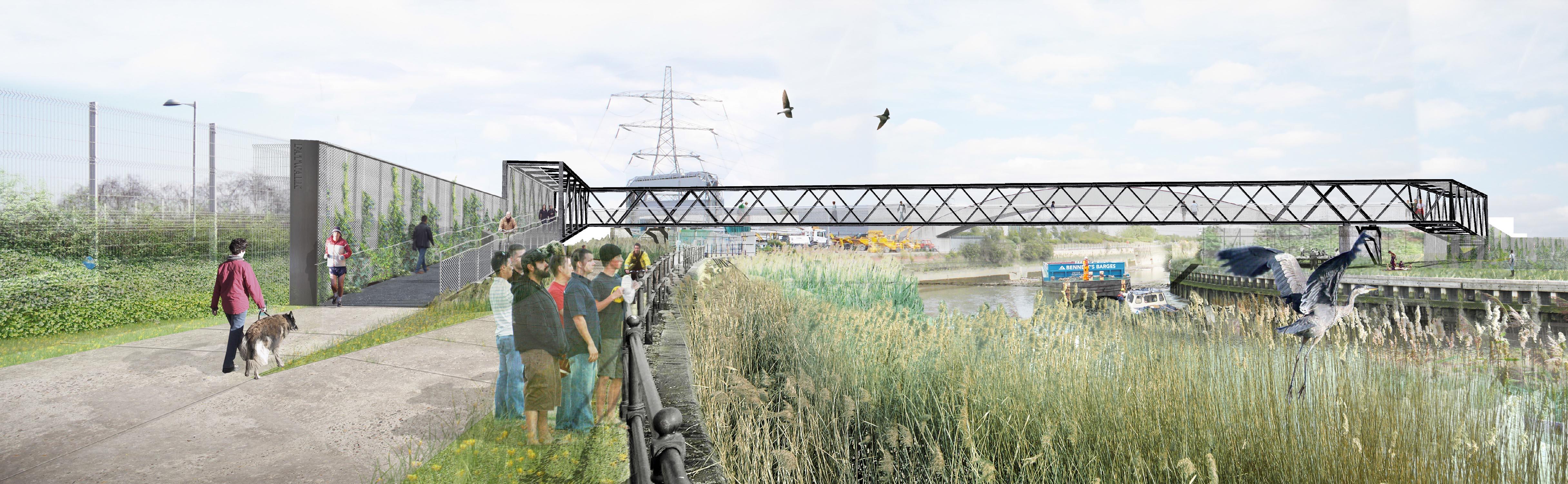 גשרי הולכי רגל ואופניים