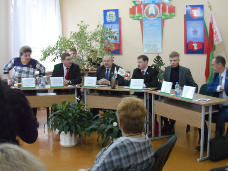 Conferència a l'Institut Superior de Zhodino