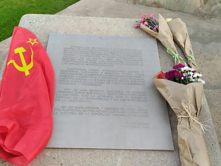 Acte de commemoració als caiguts de la Gran Guerra Pàtria.