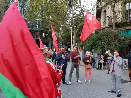 Concentració a Barcelona