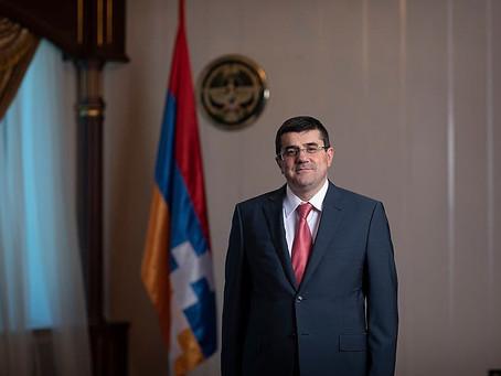 Carta del President  de la República de Nagorno Karabakh.