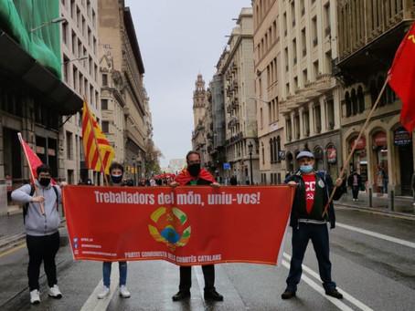 Concentració del PCCC l'1 de maig a Barcelona