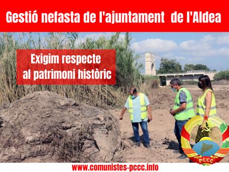 Gestió nefasta de l'Ajuntament de l'Aldea.