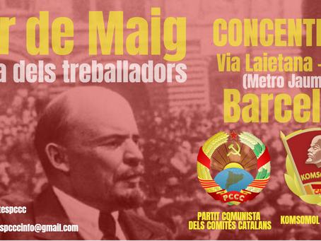 L'1 de Maig els Comunistes ens trobem a Barcelona