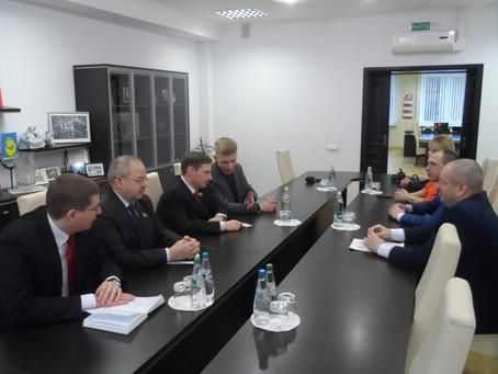 Reunió amb l'alcalde de Zhodino